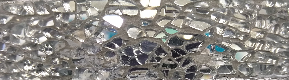 close-up of mirror mosaic
